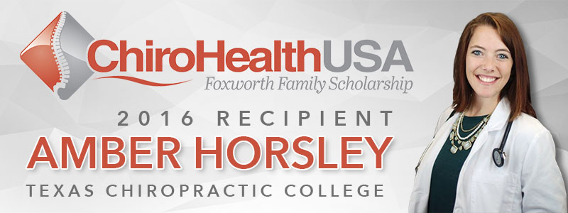 ChiroHealthUSA Announces Recipient of the Foxworth Family Scholarship